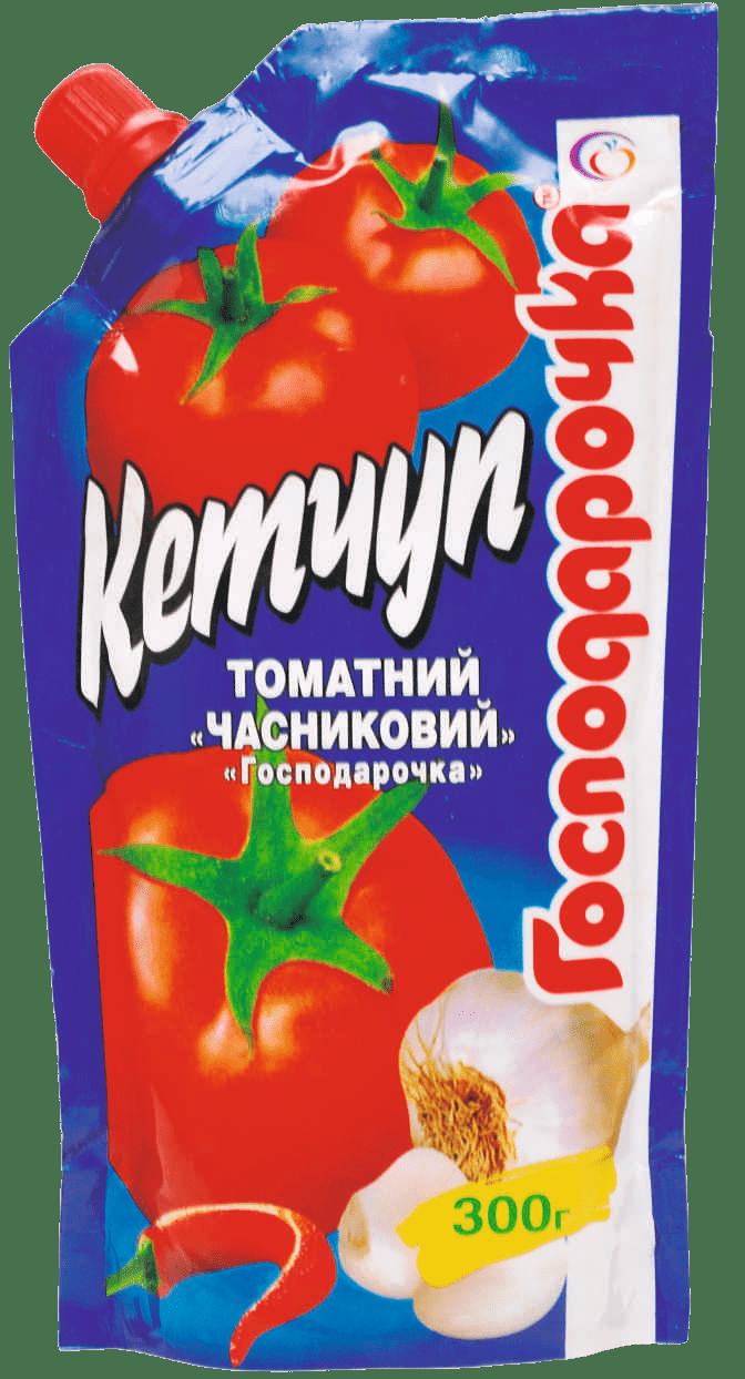 27 Ketchup tomatnyyChasnykovyy 300h doy-pak TM Hospodarochka(1)-min